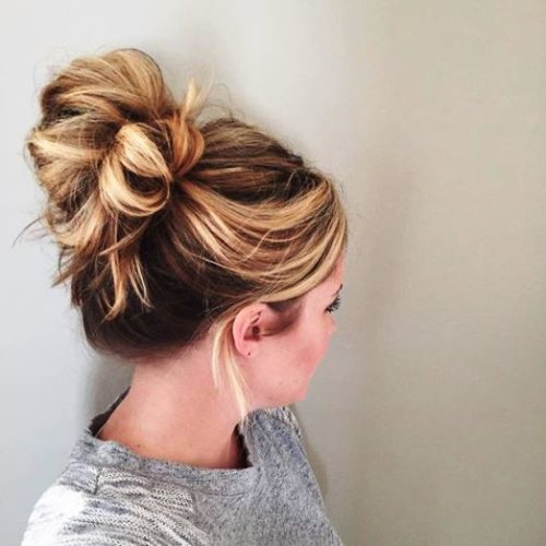 High and low ponytail style