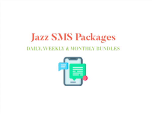 Jazz SMS Packages - Daily, Weekly & Monthly Bundles